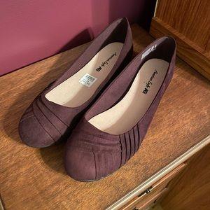 American Eagle Purple Suede Ballet Flats